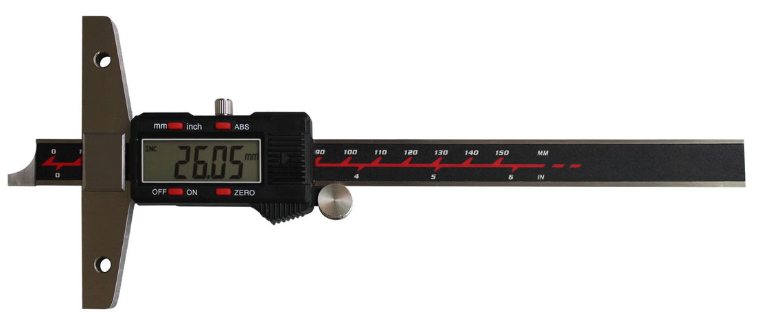 ABS Electronic Depth Gauge Digital Caliper Relative And Absolute Measuring Type